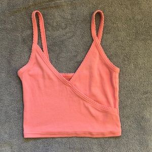 Pink scalloped edge tank top from PacSun